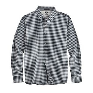 Men's Gingham 4-Way Stretch Eco-Woven Shirt