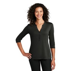 Port Authority® Ladies UV Choice Pique Henley Shirt