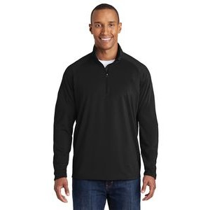 Sport-Tek® Men's Tall Sport-Wick® Stretch 1/2-Zip Pullover Sweatshirt
