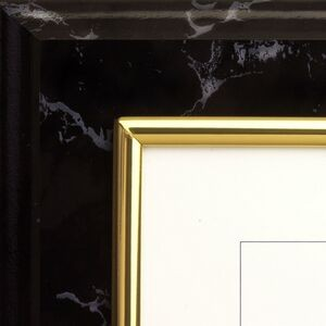 Black Marble Raised Designer Frame