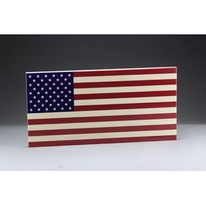 "5"" x 9.5"" - Hardwood Desktop American Flag - USA-Made"