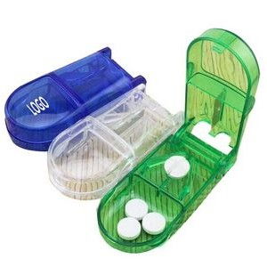 Translucent Pill Box with Cutter