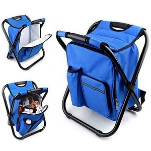 Portable Folding Stool with Backpack Ice Bag
