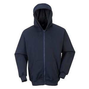 Flame Resistant Zipper Front Hooded Sweatshirt