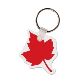 Maple Leaf Key Tag W/ Key Ring