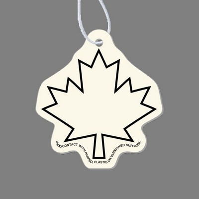 Paper Air Freshener - Maple Leaf Outline Tag W/ Tab