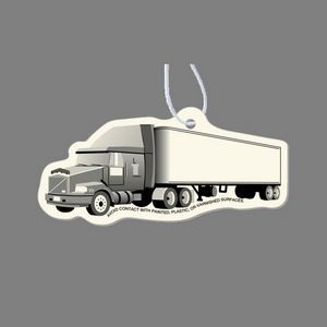 Paper Air Freshener - Semi Truck (3/4 View) Tag W/ Tab