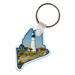 Maine Shaped Key Tag W/ Key Ring