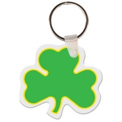 3 Leaf Clover Key Tag W/ Key Ring