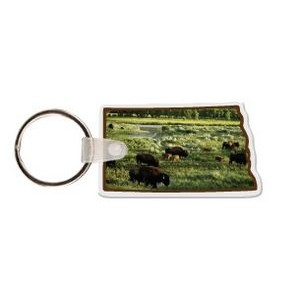 North Dakota Shaped Key Tag W/ Key Ring