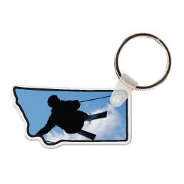 Montana Shaped Key Tag W/ Key Ring
