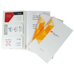 Perfect Bound CardNoter - 3 individual business card pockets per page