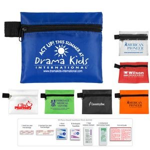 """Safety Zip"" 10 Piece Hand Sanitizer First Aid Kit in Zipper Pouch"