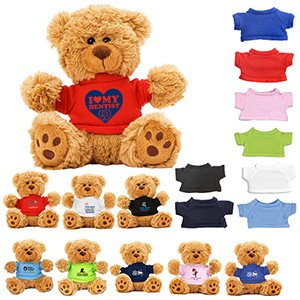 """Ted T. Bear"" 6"" Plush Teddy Bear w/Choice of T-Shirt Color (Overseas)"