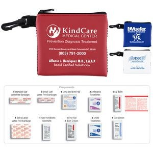 """Park Doc"" 16 Piece All Purpose First Aide Kit in Zipper Mesh Pouch"