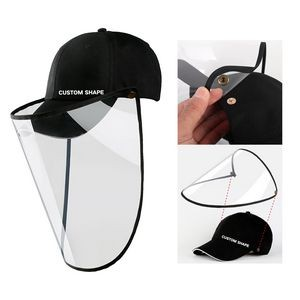 Detachable Baseball Cap with Clear Face Mask