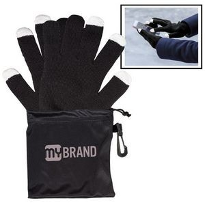Touchscreen-Friendly Gloves In Pouch