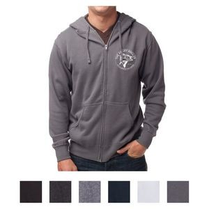 Independent Trading Company Men's Lightweight Zip Hooded Sweatshirt