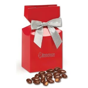 Chocolate Covered Almonds in Red Gift Box