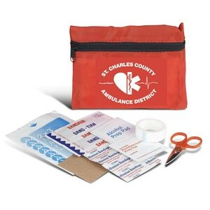 First Aid Kit w/Zipper Case