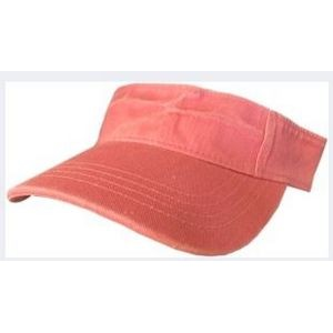 Pigment Dyed Washed Cotton Visor.