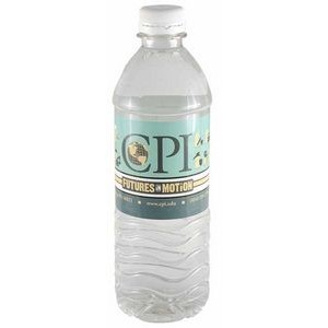 16.9 Oz. Custom Labeled Bottled Spring Water w/Flat Cap