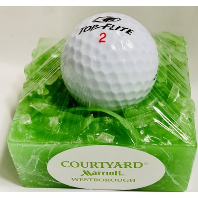 On the Green Glycerin Soap with Golf Ball