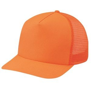 Polyester/Nylon Mesh 5 Panel Traditional Hunting Safety Cap
