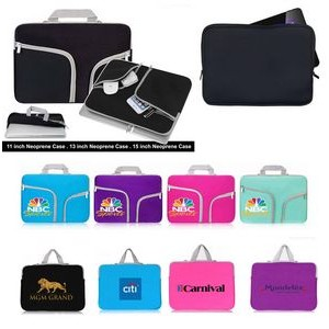 "iBank(R) Neoprene Case for 15"" Laptop Tablet Notebook with handle"