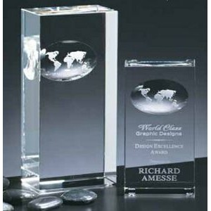 "Crystal Atlas Award (3""x7""x2"")"