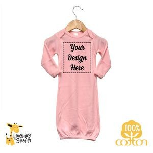 The Laughing Giraffe® Baby White Short Sleeve Lap T Bodysuit