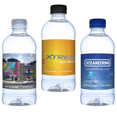 12 Oz. Custom Label Bottled Water