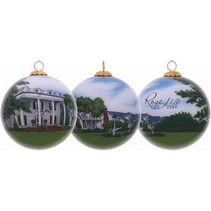 Rose Hill Christmas Glass Ornament