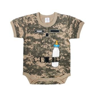 Infant A.C.U. Digital Camo One Piece Body Suit