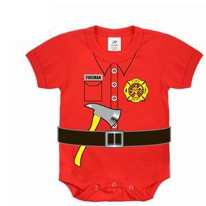 Red Fireman One Piece Bodysuit (3T Only)