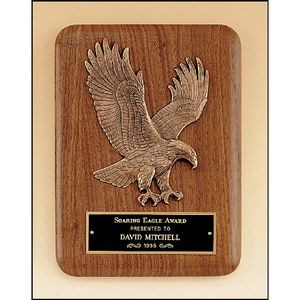Walnut Plaque with Eagle Casting 7x9