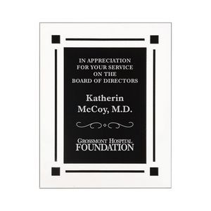 "9"" x 11"" Solid Black Acrylic Clear Plaque"