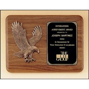 Walnut Plaque with Eagle Casting 11x15